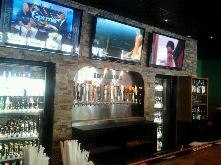 Bar stone work and cabinets