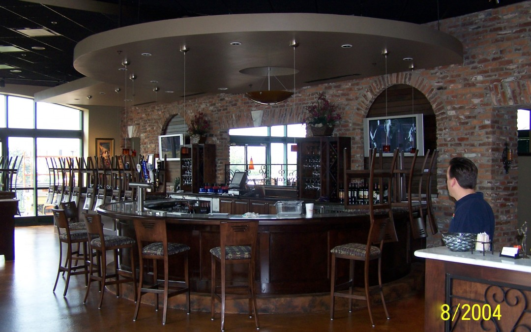 Custom round bar with wood rail Tallahassee, FL