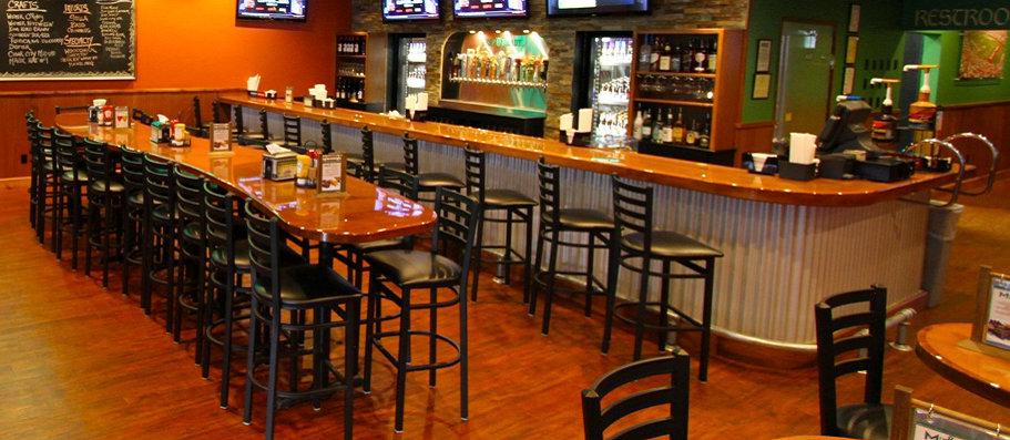 Finished bar area