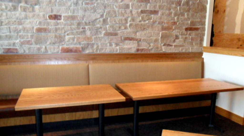 Carmel Cafe and Wine Bar Banquet Tables