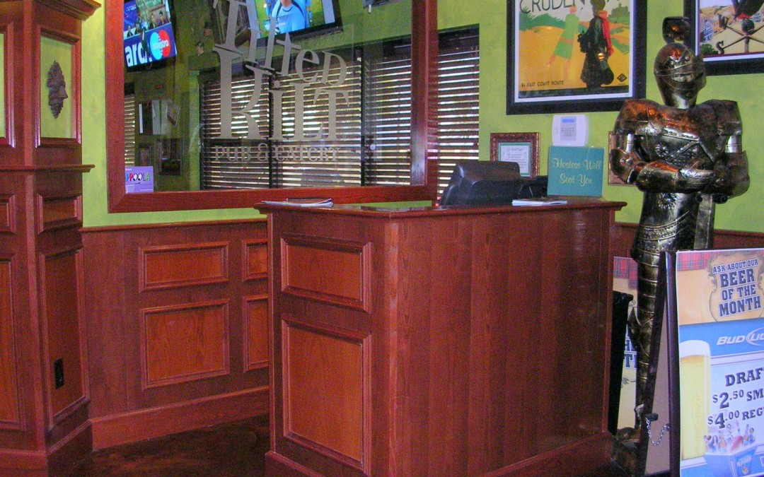 Tilted Kilt Hostess Area