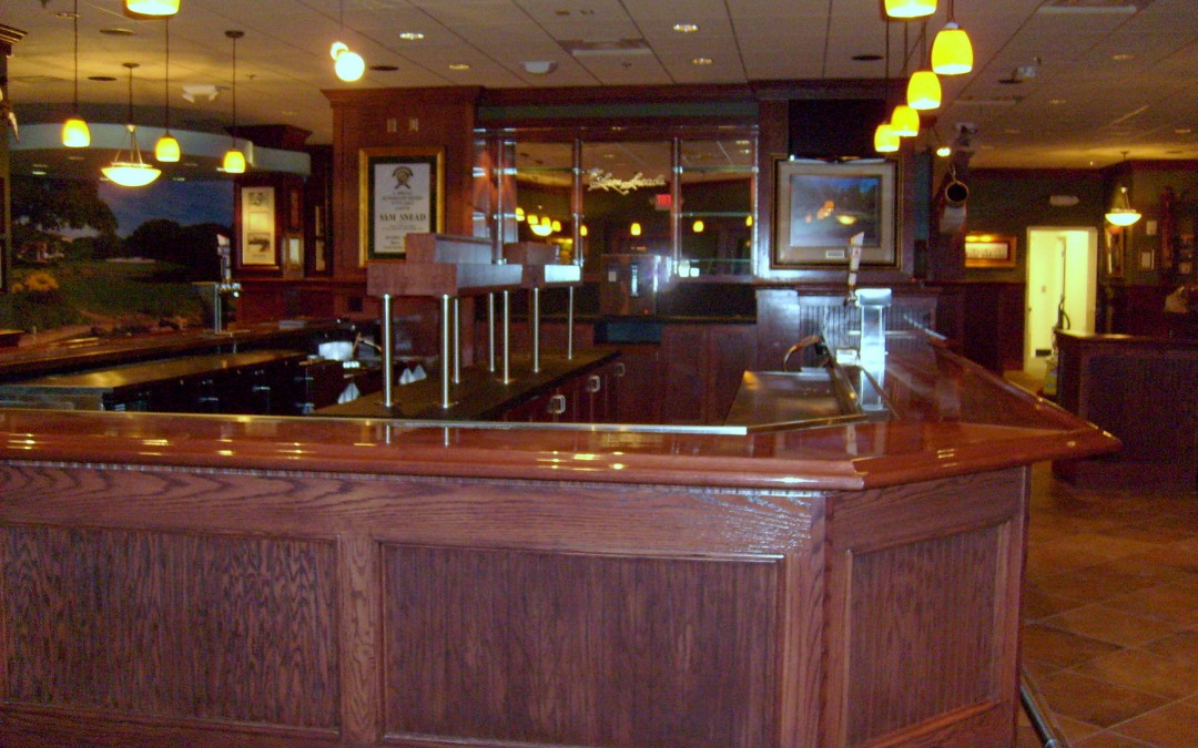 Wood bar front with wood top - DBC Millwork