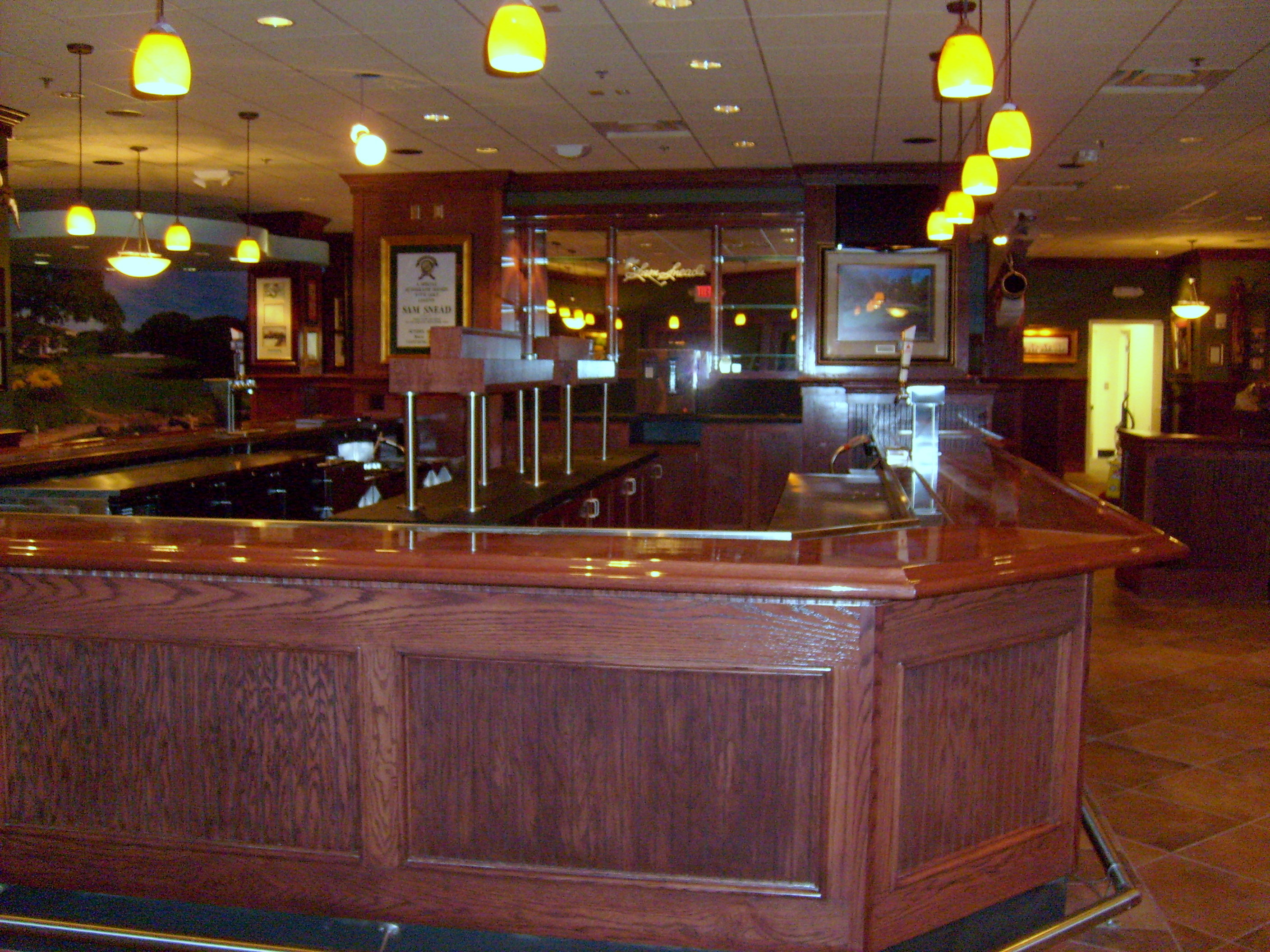 Millwork Wood Grille : Wood bar front with top dbc millwork